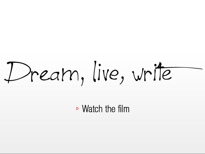 Pilot Dream, live, write : watch the film
