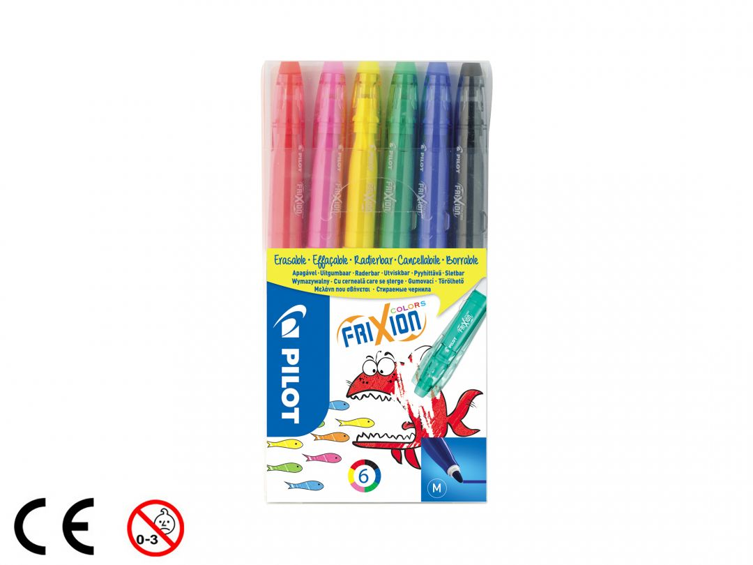 FriXion Colors - Set 6 pz. - Colori assortiti - Punta Media