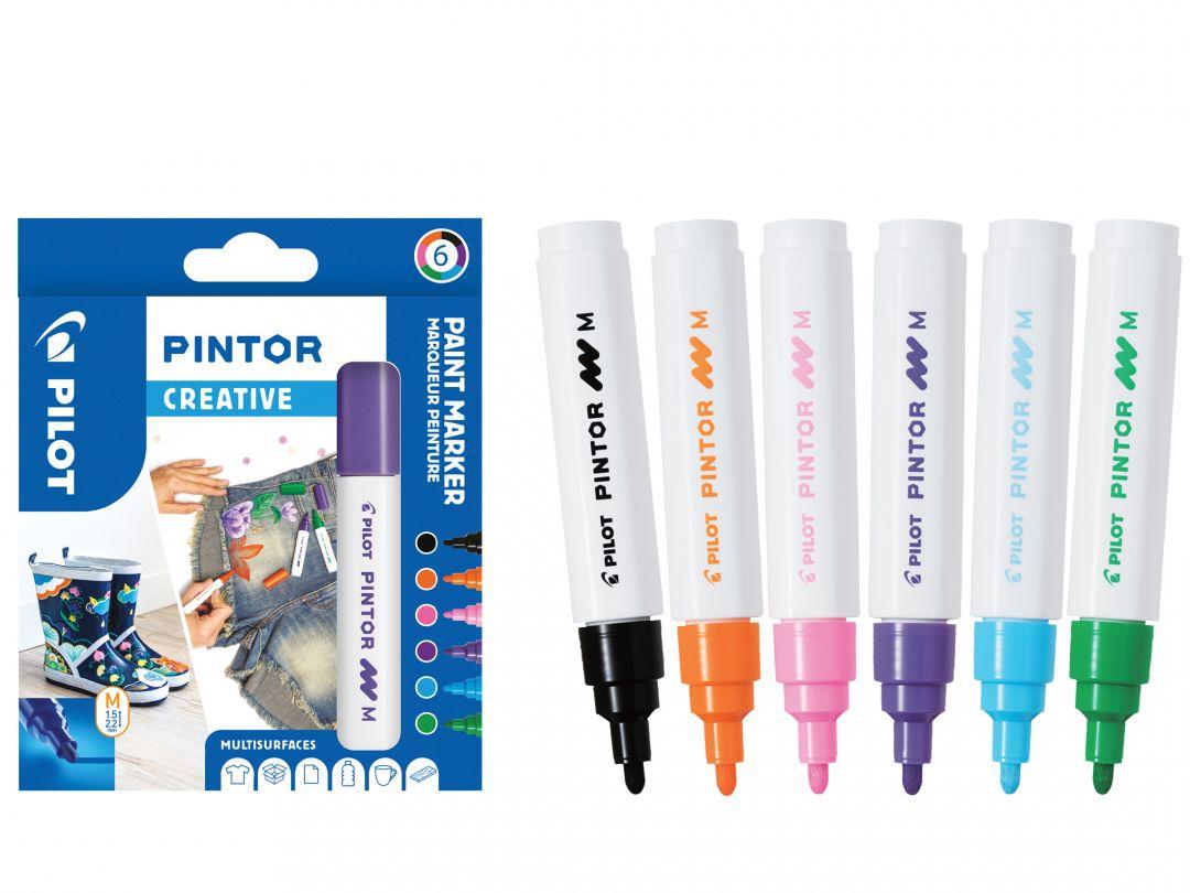 Pilot Pintor - Astuccio da 6 pz - Colori fun  - Punta Media