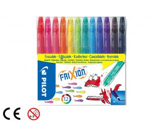 FriXion Colors - Set 12 pz - Colori assortiti - Punta Media