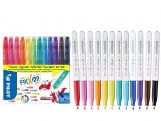 FriXion Colors - Set 12 pz - Colori assortiti - Punta Media