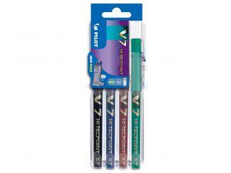 Hi-Tecpoint V7 - Set2Go 4 pz - Nero, Blu, Rosso, Verde - Punta Media